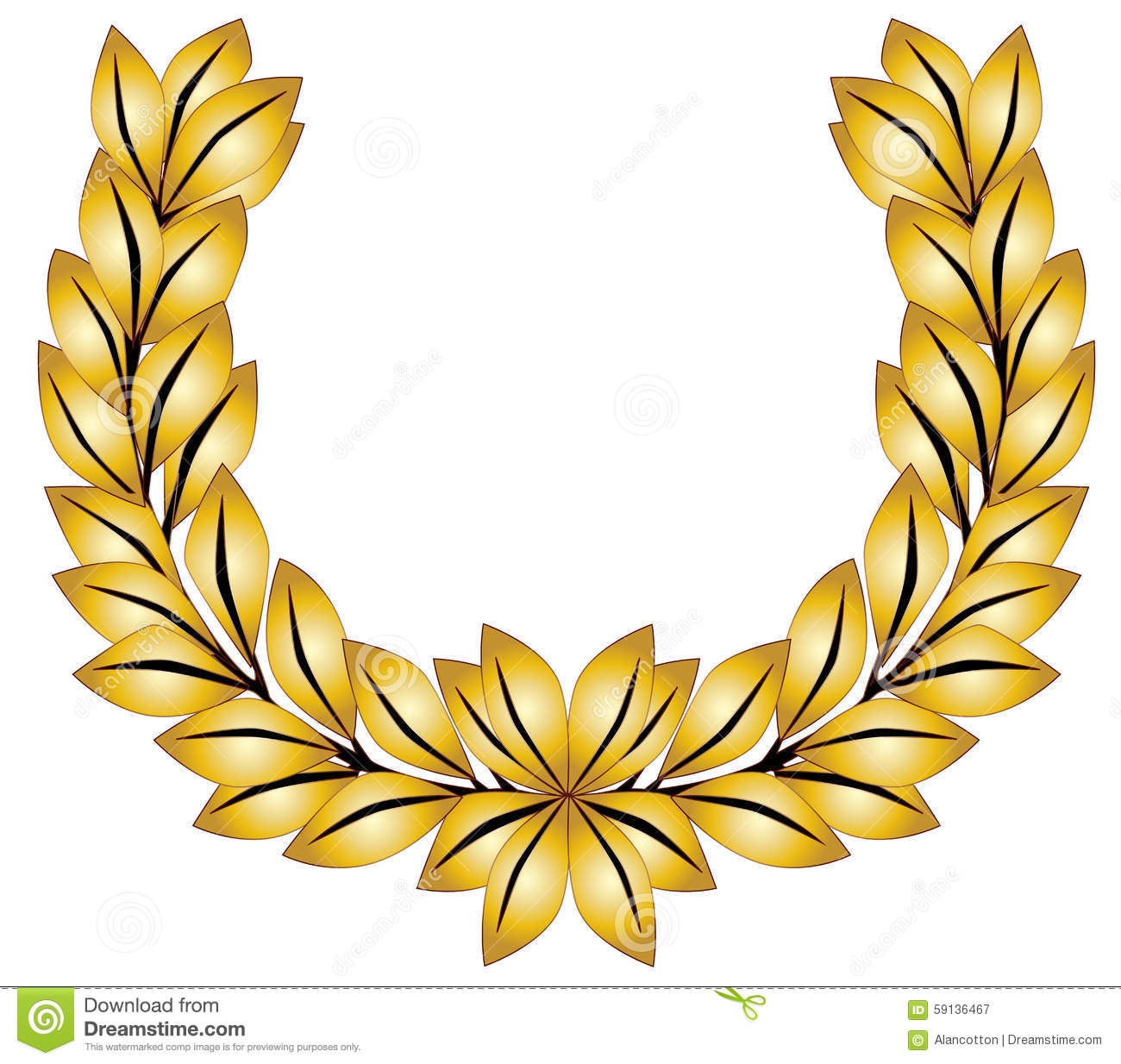 Golden Leaves Crown Royalty Free Stock Photo.