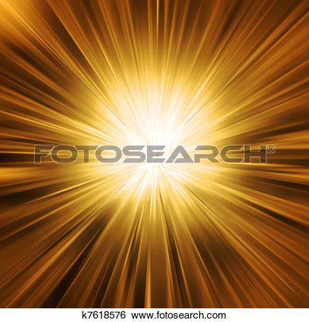 Stock Illustration of Golden Light Burst k7618576.