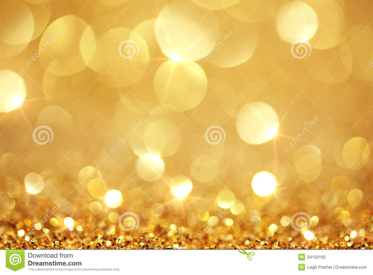 Shiny Golden Lights Stock Photography.