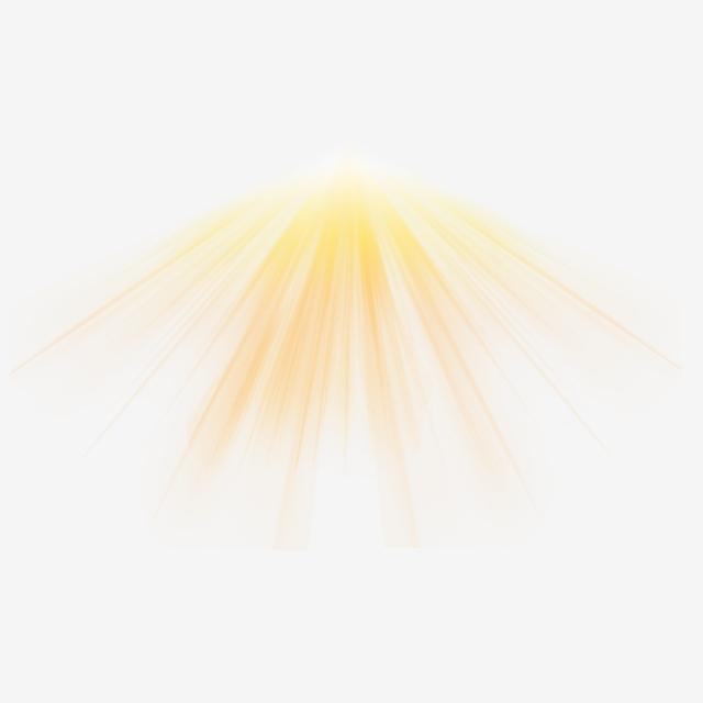 Golden Beam Light Effect Element, Gold, Beam, Rays PNG.