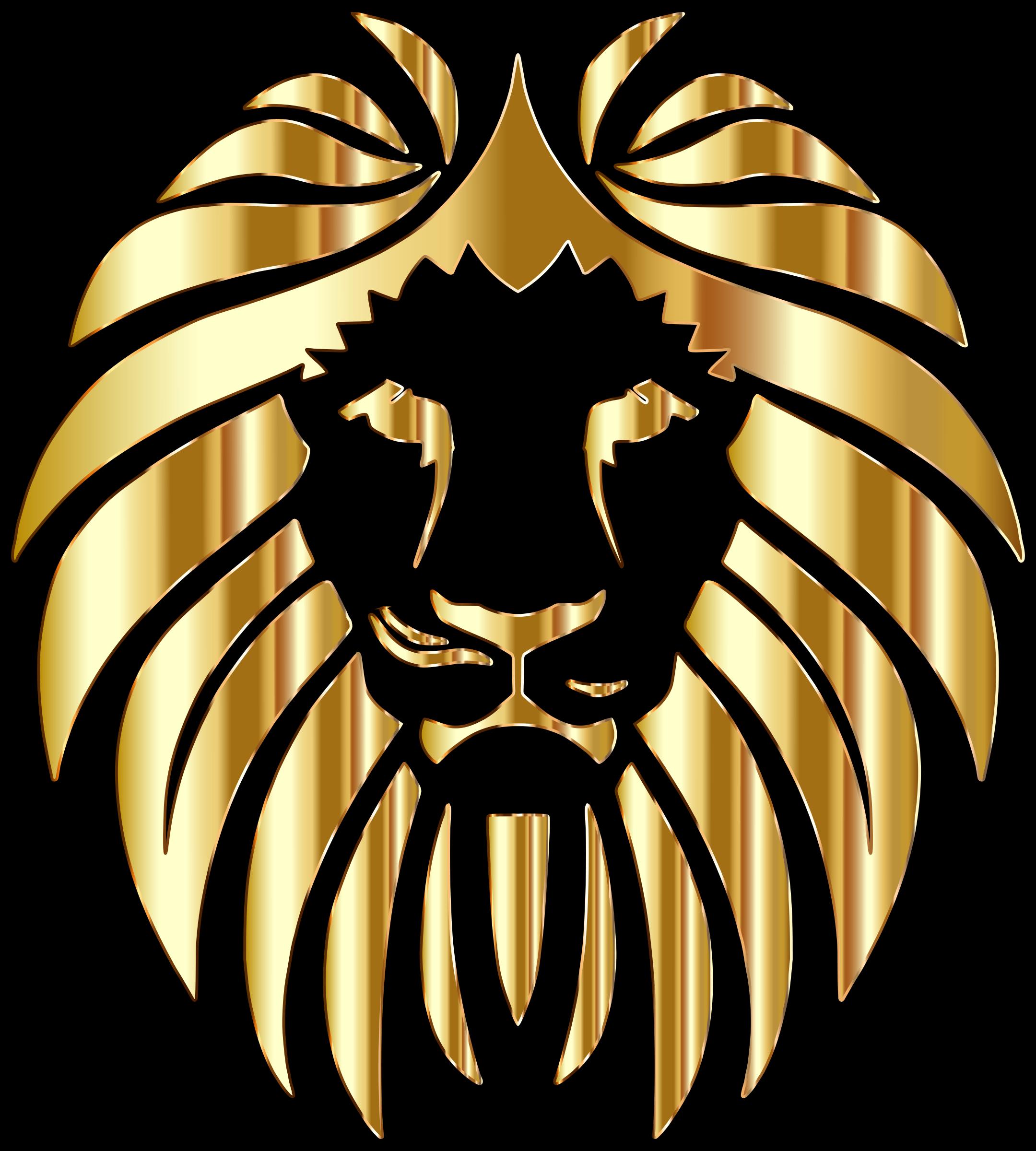 Golden lion clipart.