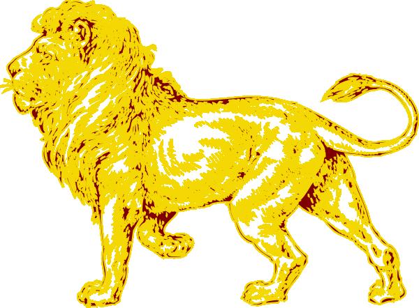 Golden lion clipart - Clipground