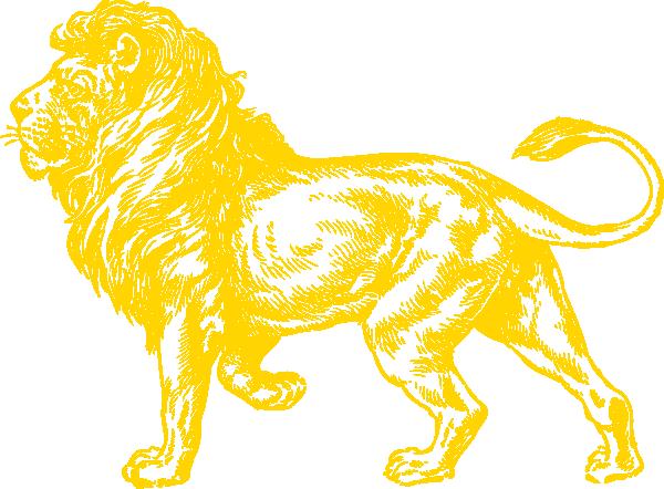 Gold Lion Clip Art at Clker.com.