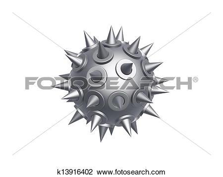 Clip Art of iron morning star k13916402.