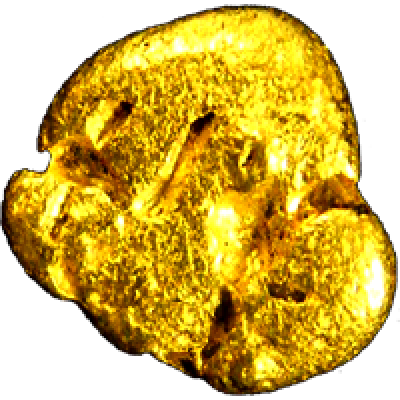 Gold nugget PNG image.