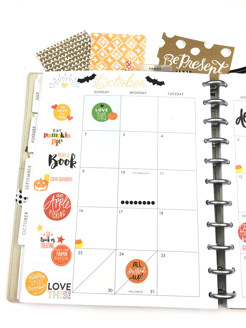 October monthly prep #beforethepen in the 'Stay Golden' BIG Happy.