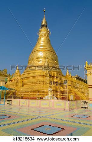 Stock Photo of Burmese golden pagoda, Myanmar k18218634.