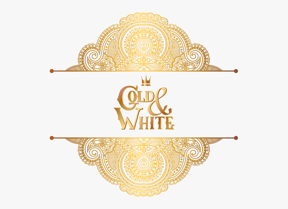 Golden Atmosphere Gold Pattern Wedding Ornament Luxury.