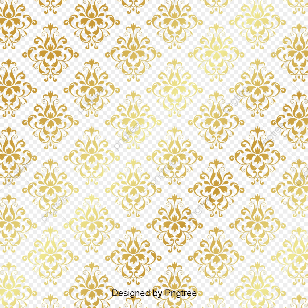 Thai Gold Pattern, Golden, Decorative Pattern, Texture PNG and.