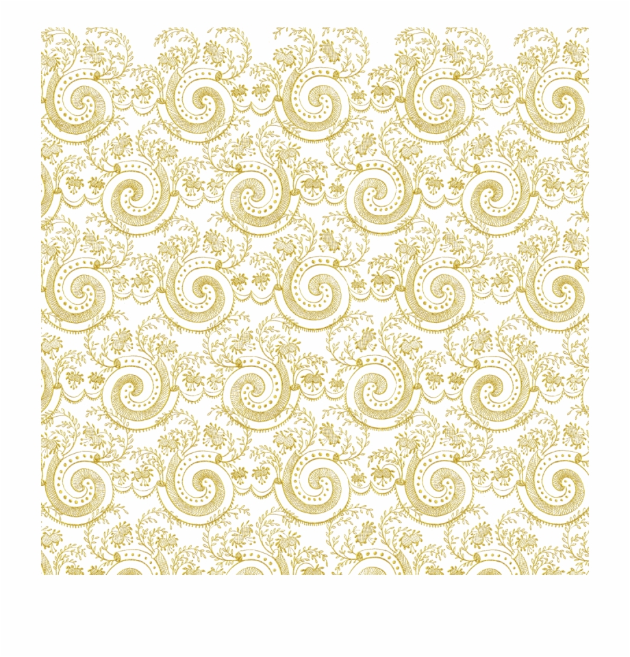 Gold Swirl Design Png.