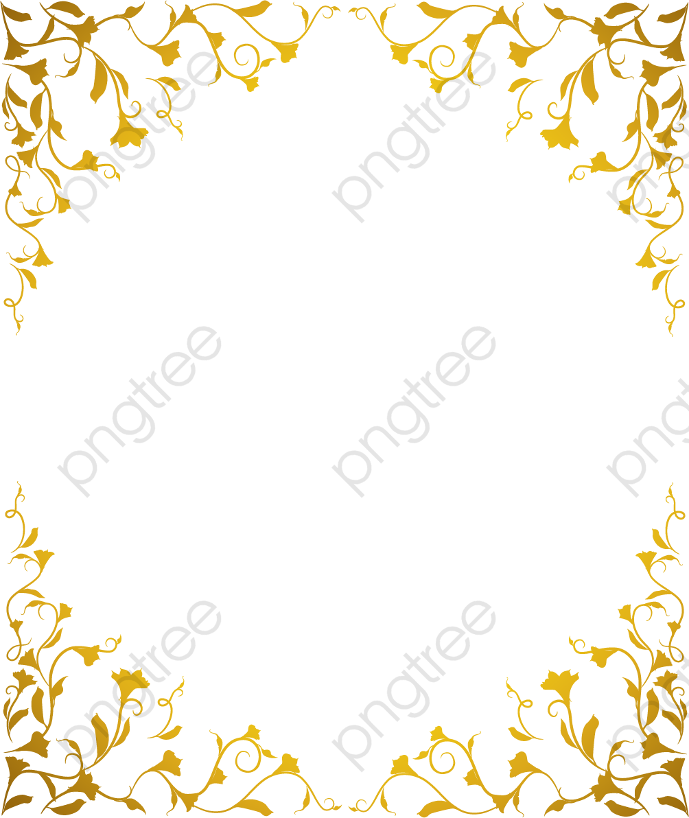 Vector Gold Pattern Frame, Vector, Golden, Pattern PNG and Vector.