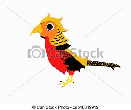 Clipart of Golden pheasant.