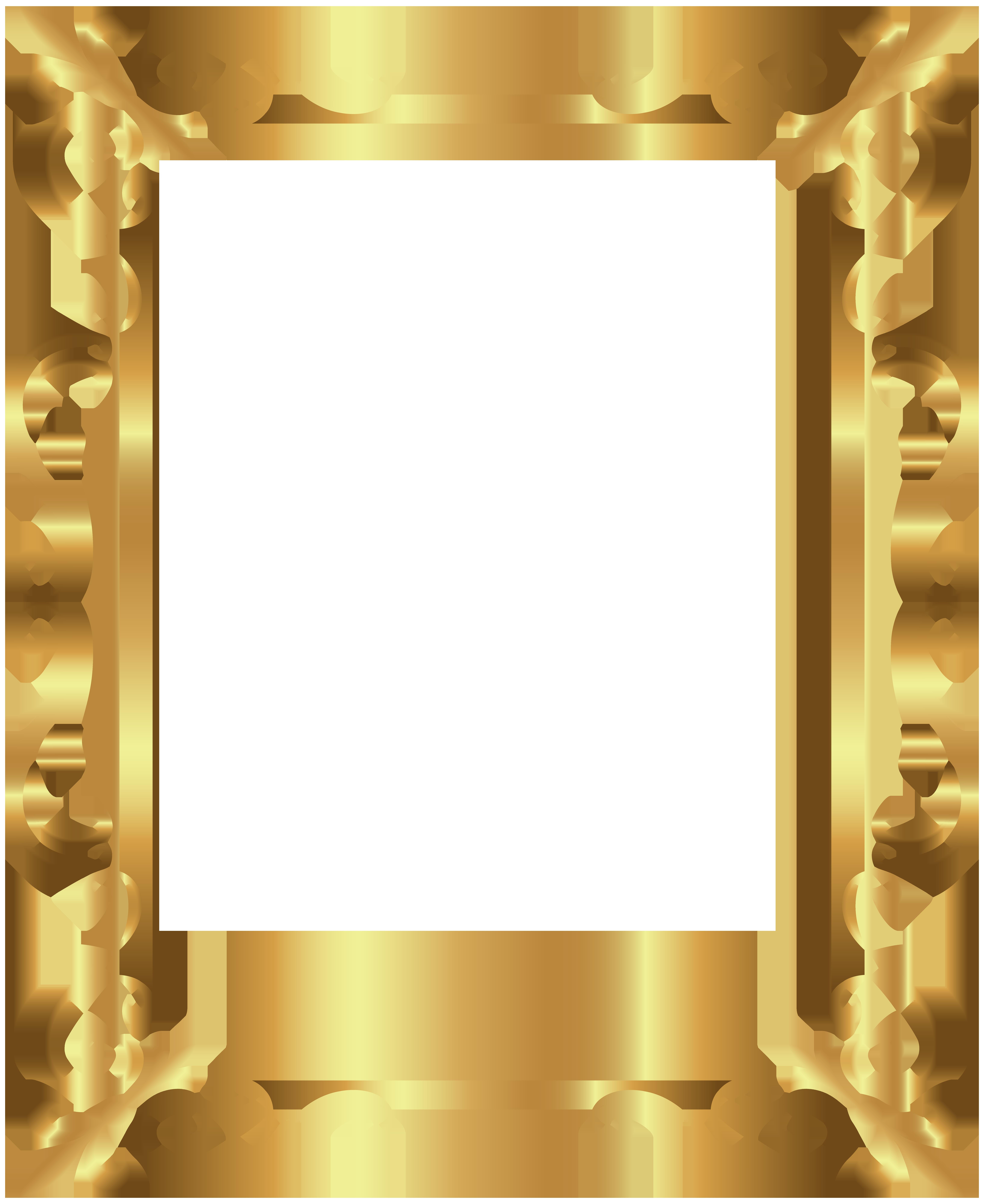 Gold Frame Border Free Clipart.
