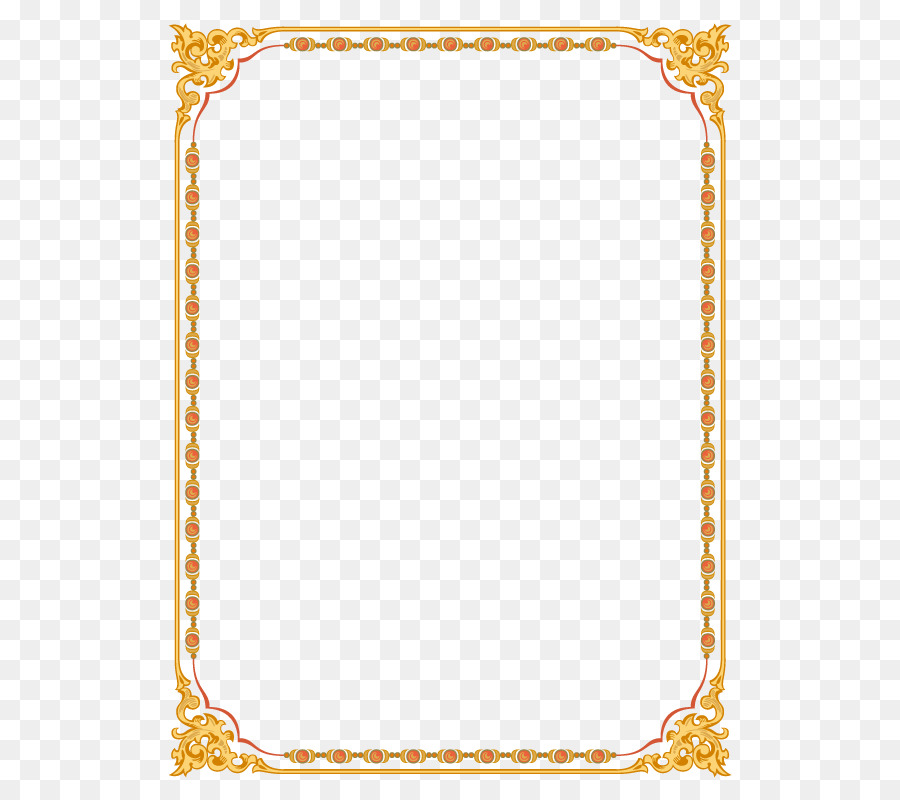 Background Gold Frame png download.