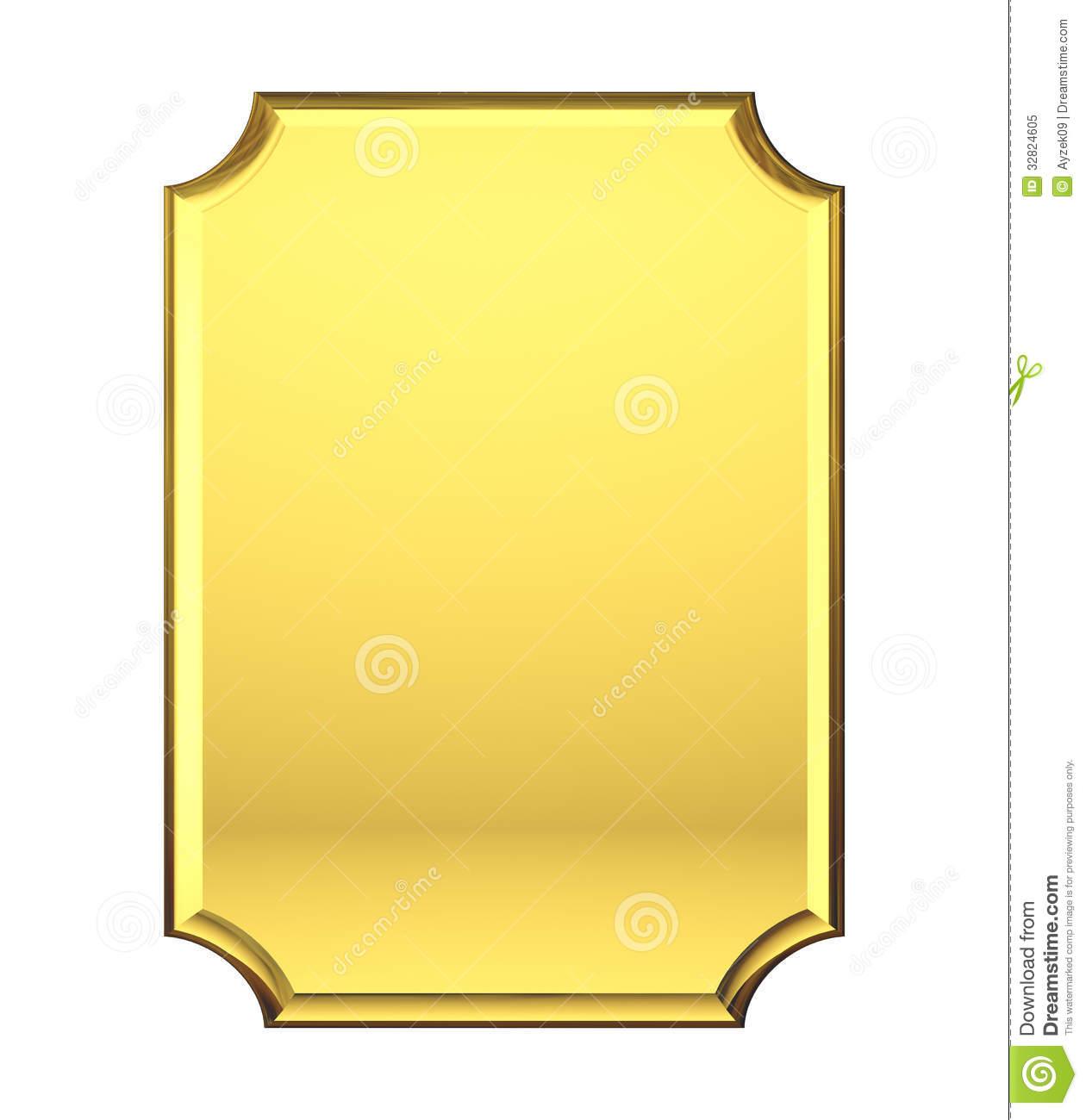 Golden Nameplate Stock Illustrations.