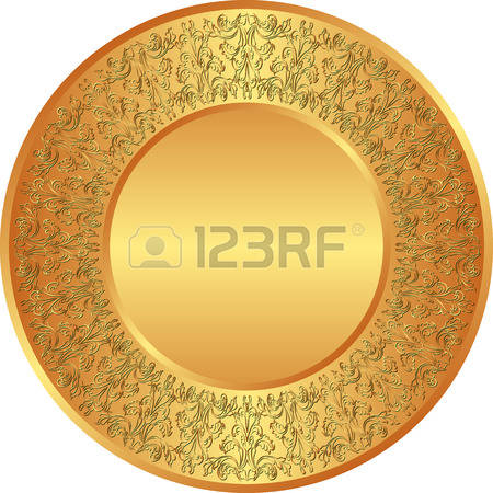 12,589 Golden Plate Cliparts, Stock Vector And Royalty Free Golden.