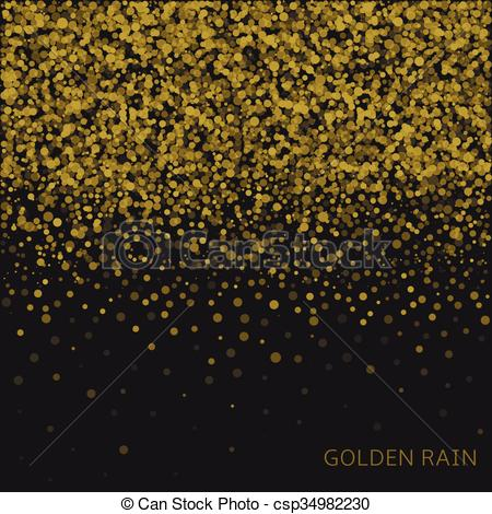 Vectors of Golden rain background.