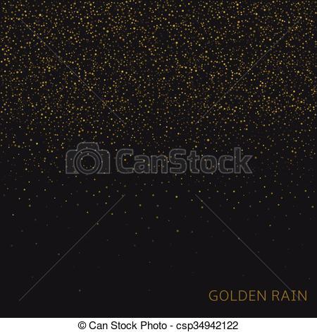 Vector Illustration of Golden rain background.