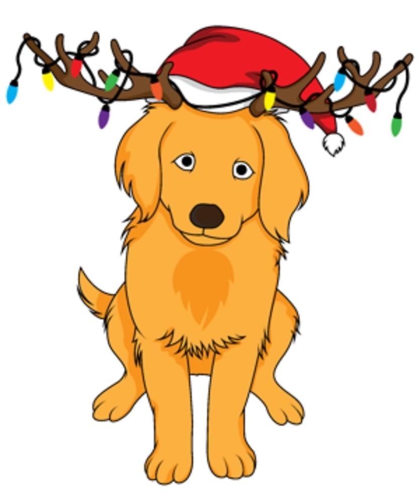 golden retriever christmas clip art 10 free Cliparts ...