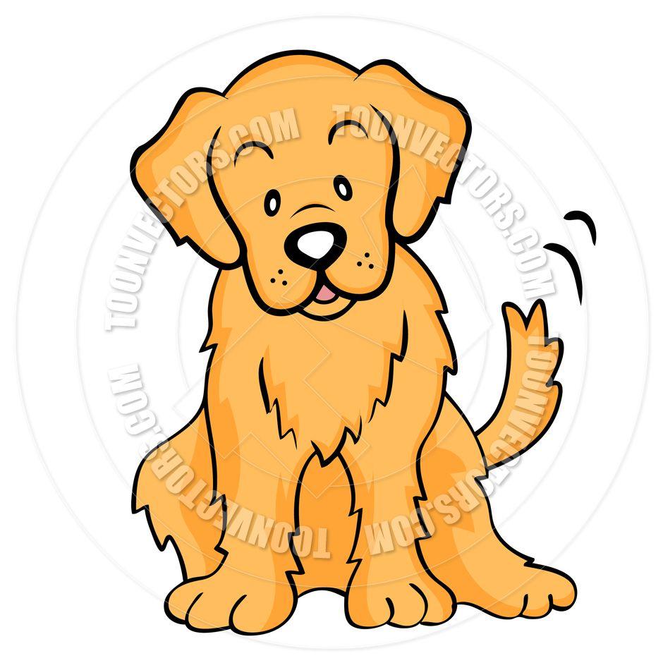 Golden Retriever Puppy Drawing.