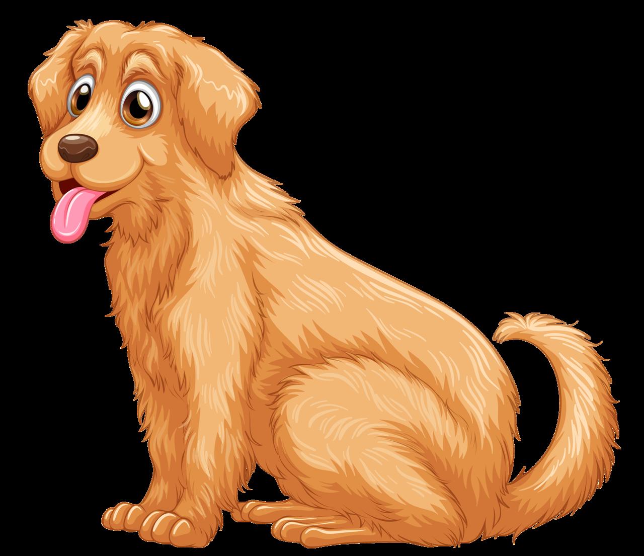 Golden Retriever Puppy Clip art.