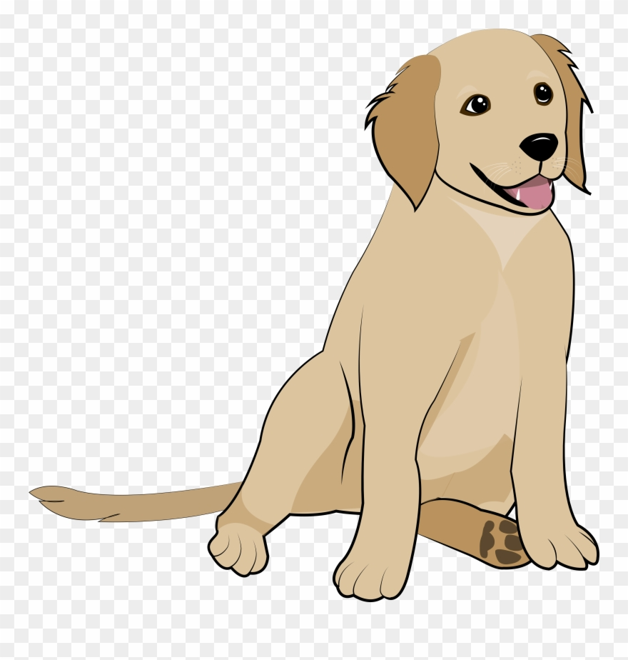 5 Golden Retriever Puppy Clipart (#3067993).