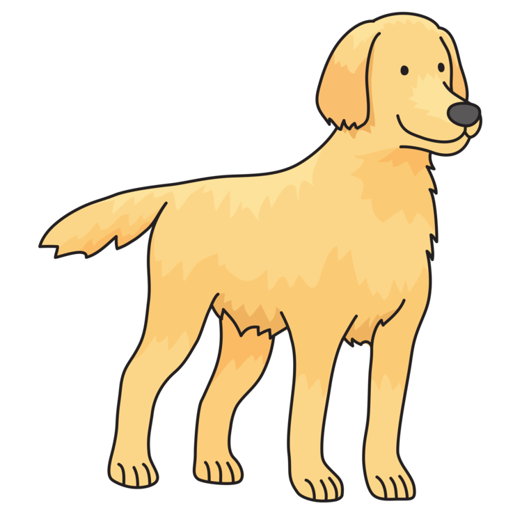Golden retriever puppy clip art clipart images gallery for free.