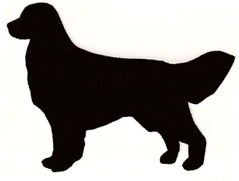 Golden Retriever Silhouette Clip Art.