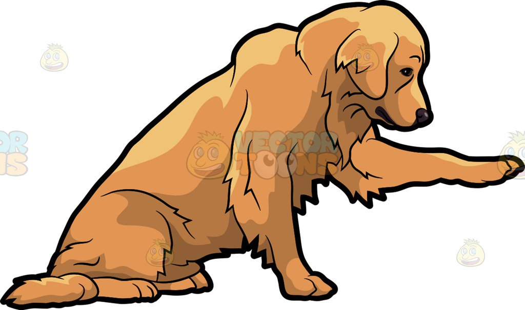Clipart golden retriever dog 1 » Clipart Station.