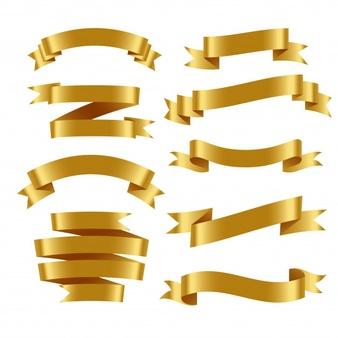 Gold Ribbon Vectors, Photos and PSD files.