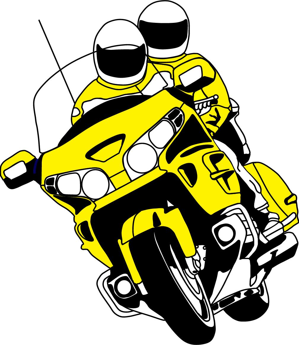 Honda goldwing motorcycle clipart.