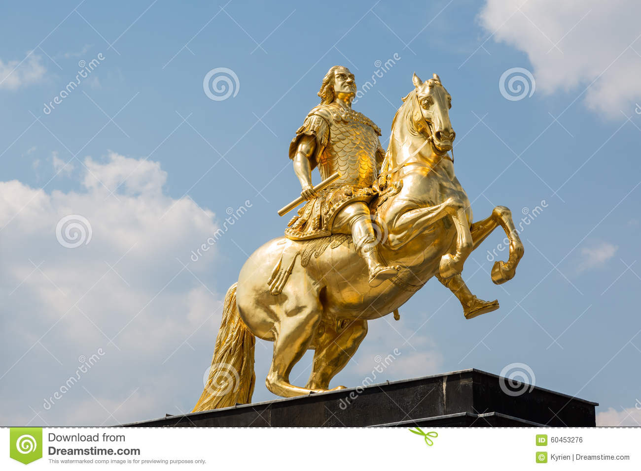 Golden Horseman. Dresden. Germany. Stock Photo.