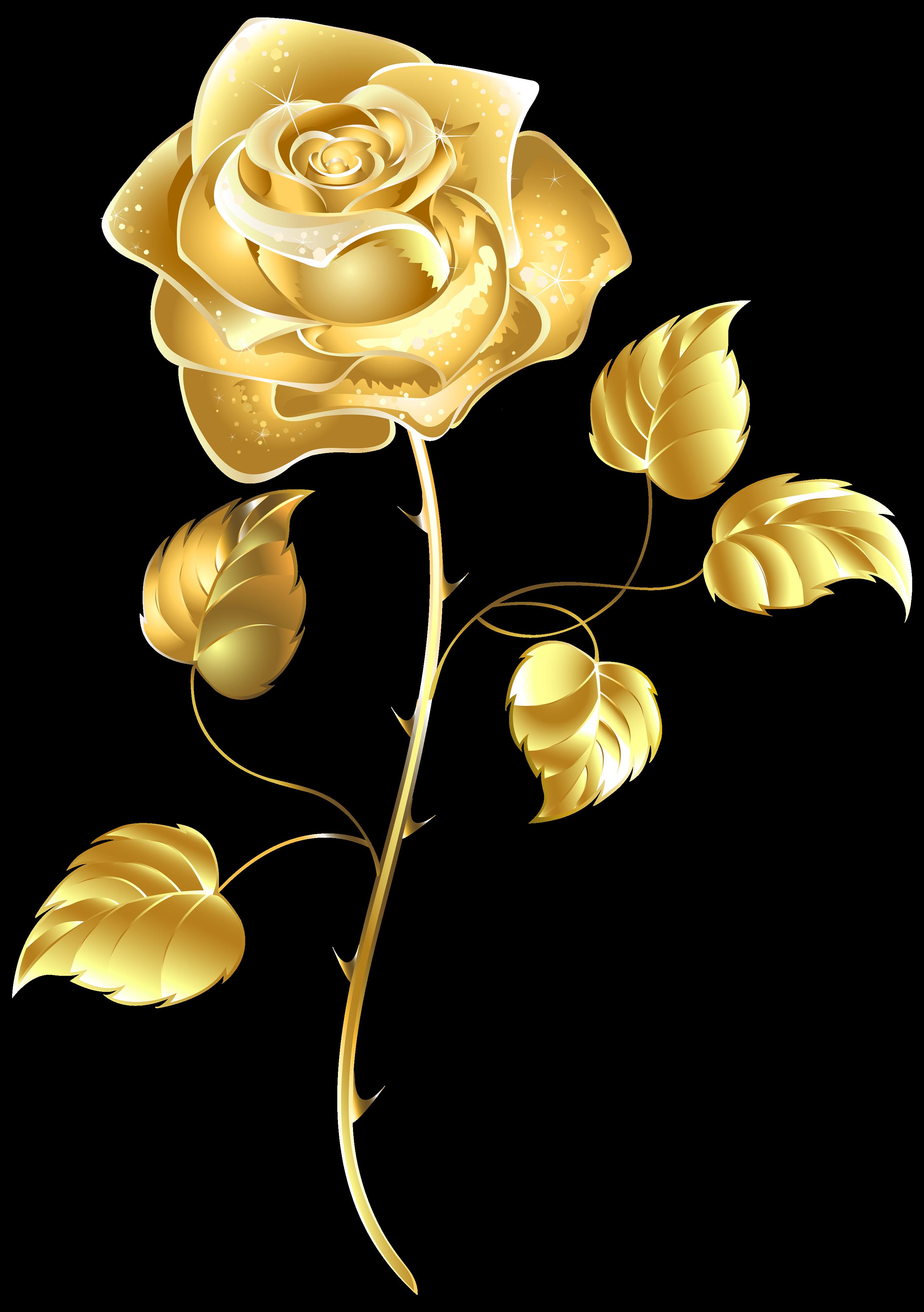 Golden Rose PNG Transparent Images, Pictures, Photos.