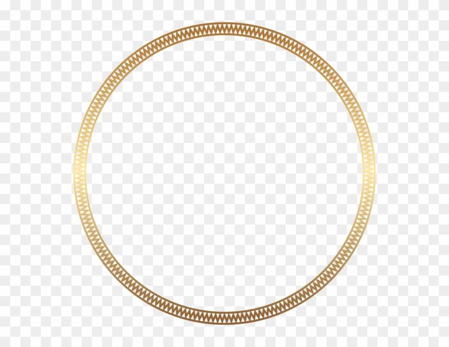 Round Frame Border Gold Clip Art.