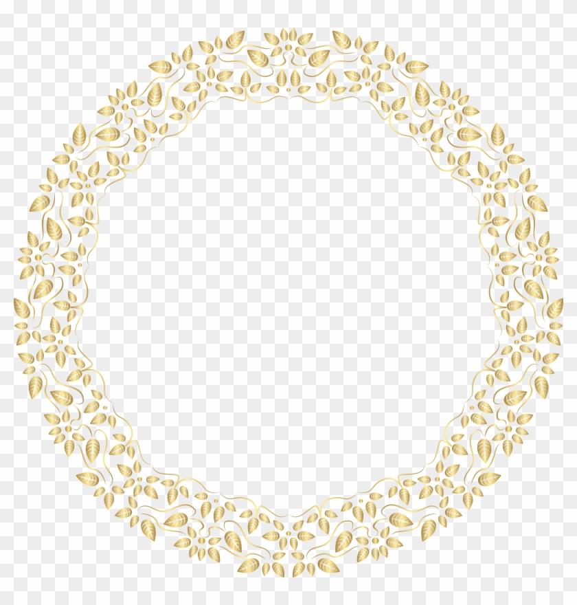 Round Golden Border Frame Png Clip Art, Transparent Png.