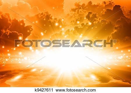 Clipart of Golden sky k9427611.