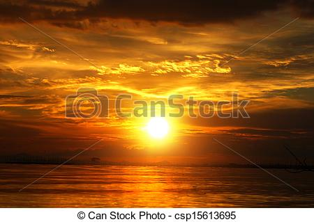 Stock Photographs of Sunset at the twilight. Beautiful clouds.