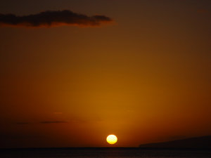 Sunset Photo Clipart Image.