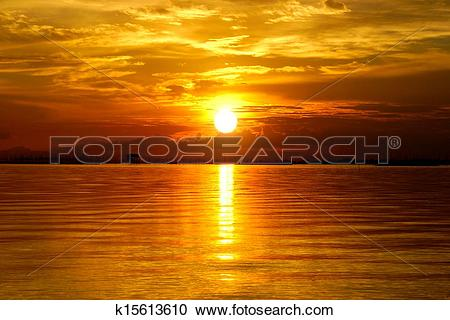 Stock Photography of Sunset at the twilight. Beautiful clouds.