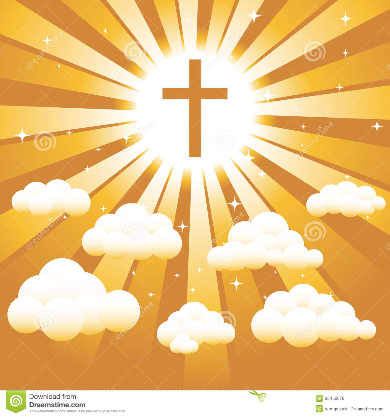 Christian Cross In The Sky Royalty Free Stock Image.