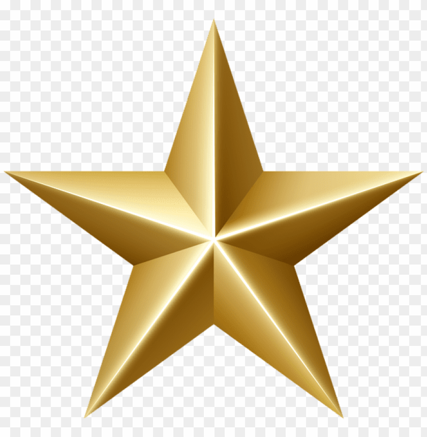 Download golden star clipart png photo.