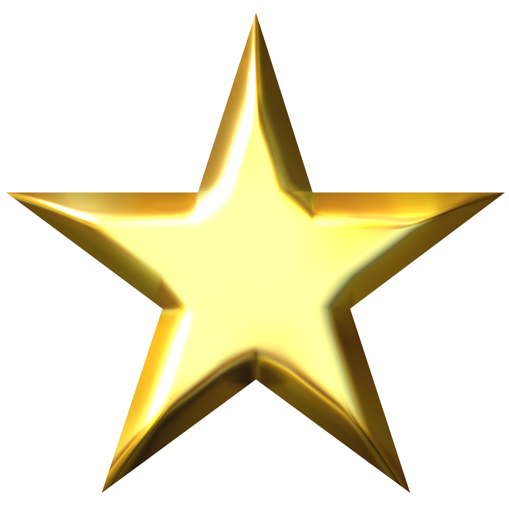 Clipart gold star 3.