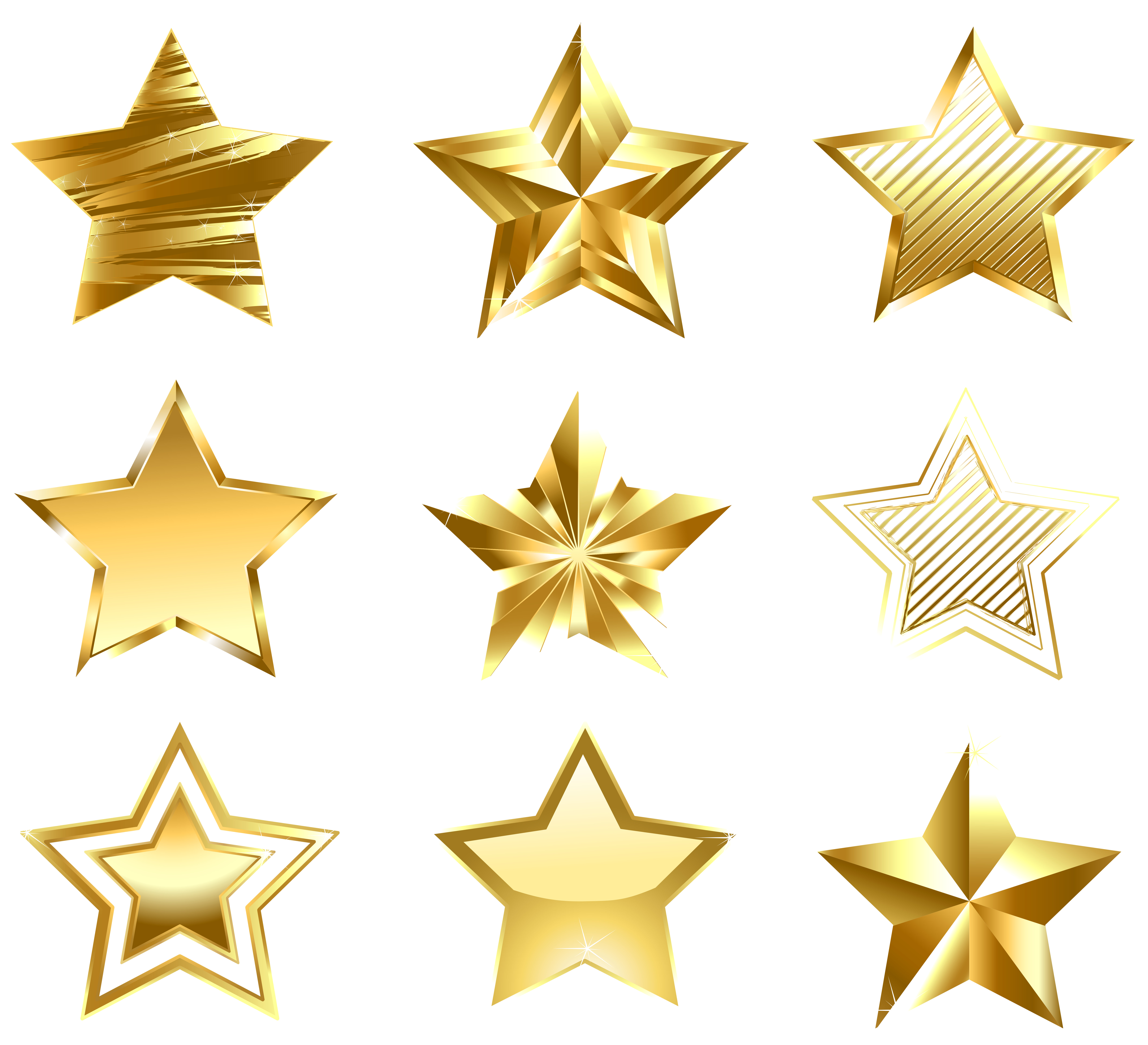 Golden Stars Clipart Clipground