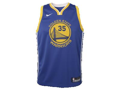Kevin Durant Golden State Warriors Nike Icon Edition Swingman Older Kids'  NBA Jersey.