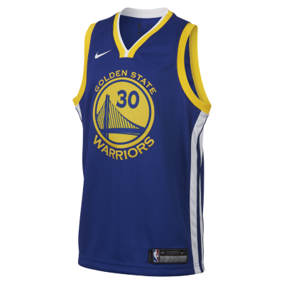 Stephen Curry Golden State Warriors Nike Icon Edition Swingman Older Kids'  NBA Jersey.