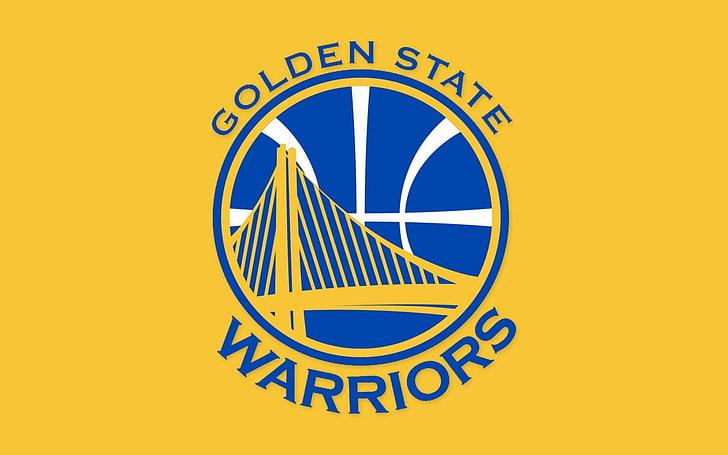 HD wallpaper: Golden State Warriors logo, NBA, basketball.