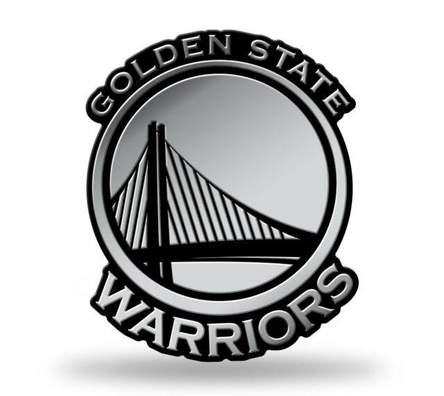 Golden State Warriors Logo 3d Chrome Auto Decal Sticker Truck Car Rico.