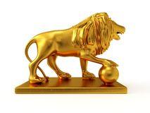 3d Golden Statue Stock Illustration.