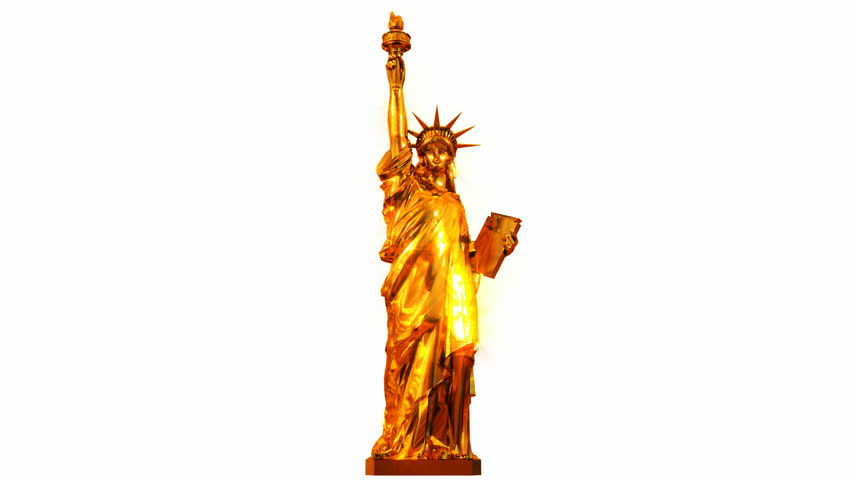 Golden Statue Of Liberty Stock Footage Video 982597.