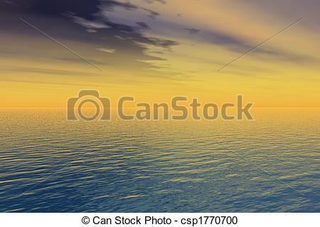Stock Illustration of Golden Sunset.